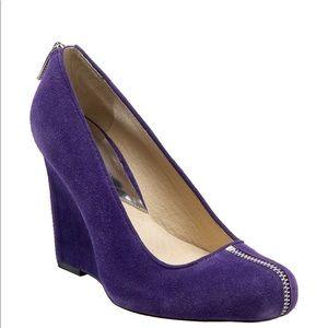Michael Kors Parker Pumps Purple Wedges